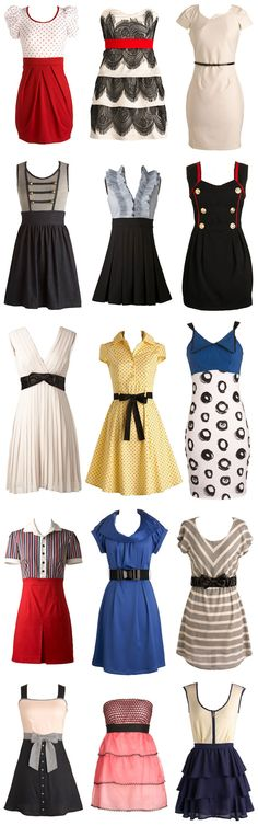 I enjoy vintage clothes! I would ROCK every single one!