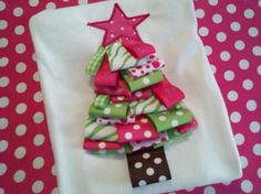 Pink and Green Ribbon Christmas Tree by ShopSewSouthern on Etsy, $26.00