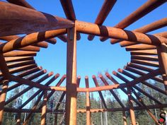 Other Log and Timber Projects by Sitka Log Homes | Fort Nelson First Nations dance arbor under construction