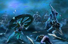 The role of the descendants of Lord Rama in the Mahabharata War fought at Kurukshetra.