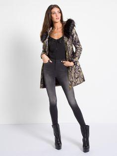 MET Women's ARAMYT padded jacket, camo and eco fur details - Met