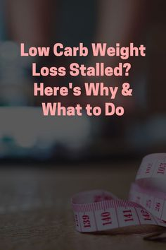 Following a well-formulated low carb diet is a great way to reach your weight loss goal. However, like any goal, it takes time. There will be moments when you feel as if you are doing the right things, but not getting the results you expect. It is frustrating when weight loss stalls. In this video, I'll share six reasons why it happens and what you can do to accelerate your results. Weight Loss Goals, Healthy Weight Loss, What You Can Do, How Are You Feeling, Low Carb Diet, Superfoods, Wellness, In This Moment, Stalls