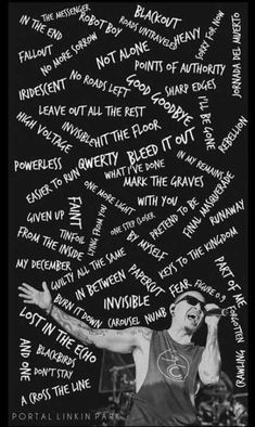 68 Trendy wallpaper iphone quotes songs linkin parkYou can find Linkin park and more on our Trendy wallpaper iphone quotes songs linkin park Wallpaper Iphone Quotes Songs, Iphone Wallpaper, Chester Bennington Quotes, Linkin Park Wallpaper, Park Quotes, Linking Park, Linkin Park Chester, Mike Shinoda, Park Art