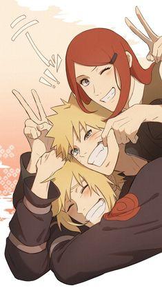 Naruto And Kushina, Naruto Uzumaki Shippuden, Naruto Cute, Naruto Funny, Hinata, Deidara Wallpaper, Naruto And Sasuke Wallpaper, Uzumaki Family, Naruto Family