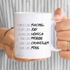 FRIENDS TV Show Mug, dorm decor, f.r.i.e.n.d.s, best friend mugs, phobe, rachel…