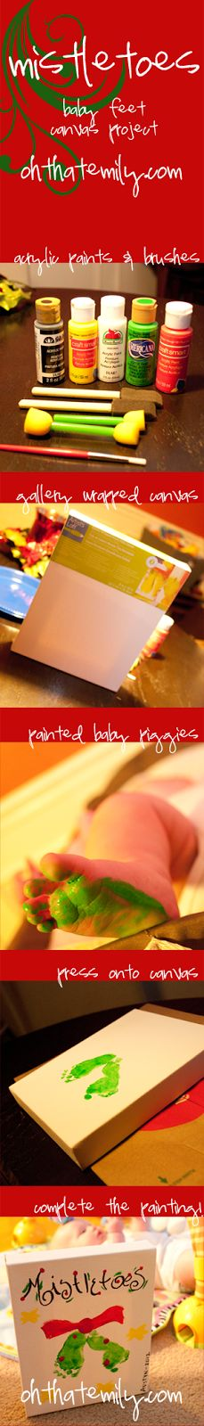 [OHthatEMILY]: DIY Mistletoes Baby Feet Painting