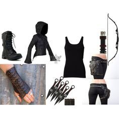 """Archer"" by samantha-belle-jane on Polyvore (Joss) battle gear minus the bow and arrow."