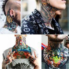 Best Neck Tattoo Designs - Creative Neck Tattoo Ideas - Gallery - neck tattoo – neck tattoos for men – neck tattoo ideas - Tribal Neck Tattoos, Best Neck Tattoos, Neck Tattoos Women, Tattoos Skull, Head Tattoos, Cover Up Tattoos, Tattoos For Women Small, Unique Tattoos, Sleeve Tattoos
