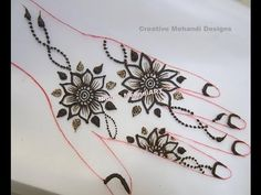 YouTube #simple #floral #henna #mehndi #design #tutorial
