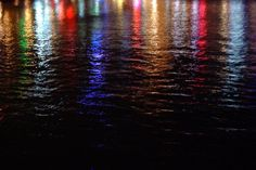 Night Water Reflections - photography with the Fuji S5 Pro