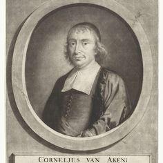 Portret van de predikant Cornelius van Aken, Jeremias van Schaak, 1690 - 1727 - Rijksmuseum