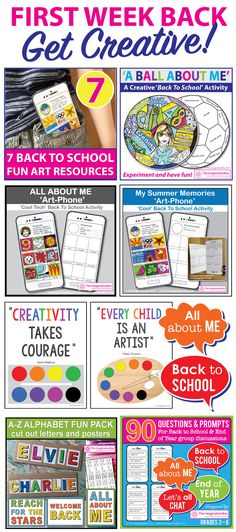 This imaginative Back to School Art Activities and Classroom Decor Bundle features 3 first week back, All About Me creative resources. These easy to use art projects are designed to engage and enthuse students of all abilities, whilst making the classroom a fun, colorful and inspiring place to be.