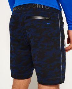 Pretty Green Pantalones Cortos Natación con el logotipo CENTRAL-Azul Marino