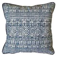 Check out this item at One Kings Lane! Sabrina Outdoor Pillow, Indigo