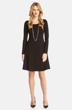 Karen Kane Seam Detail Jersey Fit & Flare Dress available at #Nordstrom
