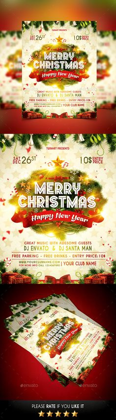 Christmas Flyer Template PSD #design Download: http://graphicriver.net/item/christmas-flyer/13813921?ref=ksioks