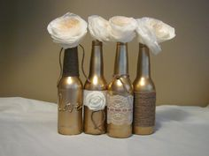 Set of four Wedding Center pieces by crystal2288 on Etsy, $14.99