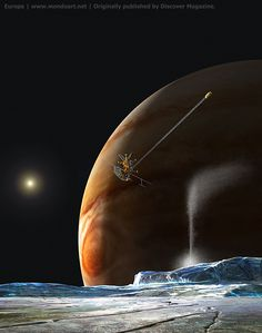 There are several recent stories that you can visit via these links. Friends of Nasa - Does Europa Have An Ocean Jupiter's Moon Europa, Jupiter Moons, Discover Magazine, Infinite Universe, Space Projects, Sci Fi Art, Cosmos, Surfboard, Ocean