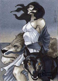 Circe Classic Mythology Sketch Card by RichardCox.deviantart.com on @deviantART