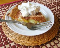 Vinegar Pie - This is an easy recipe and if you've never tried vinegar pie, you are missing out!