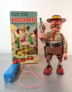 Marusan Pistol Pete. Battery/Remote toy 50s/ebay