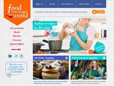 Moonfruit Template - World Food #website #design
