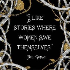 Mean #Business - I like stories where #women save themselves.