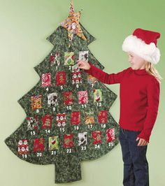 Want to make this for next christmas.. Super Cute advent calender and totally kid friendly and safe.