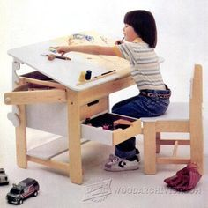 Kids Desk Plans - Children's Furniture Plans and Projects   WoodArchivist.com