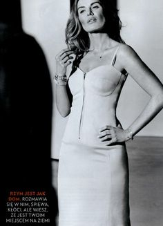 Hanna Lis w sukience ARYTON z kolekcji wiosna-lato 2013, sesja dla magazynu Gala.