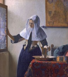 Vrouw met waterkan - by Johannes Vermeer, 1662-1665. In Metropolitan Museum of Art, New York.