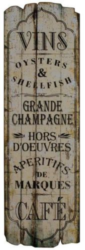 Tall Shabby Chic Wooden Wine Champage Cafe Kitchen Plaque.Sign   eBay