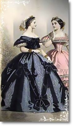 """""""  Civil War Ball Gown Black Moire and Satin Gown""""-<Civil War Ball gown,vintage dress,Southern Belle Antebellum dress,Southern Belle Ball Dress,bustle dress,Antebellum dress,Civil War Ball,bustled gown,Victorian gown,Reenacting,Sass Clothing,Southern Belle Dress,Civil War Reenactment clothing,1860's Historical dress,Custom Made Gown,Movie Set Wardrobe,Wyldemor Victorian Mercantile,Wyldemor Gowns>"""