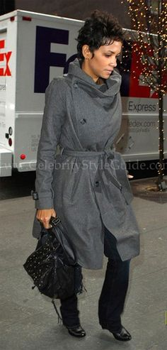 Halle Berry arriving at at the Good Morning America studios