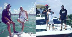 Yomil y El Dany se relajan en un yate en las aguas de Miami (VIDEO) #Farándula #miami #YomilyElDany