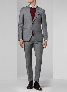 9739d17f301e Costume gris - Pied de poule 15HC3EDDO-C539 22 - Costume slim homme Costume