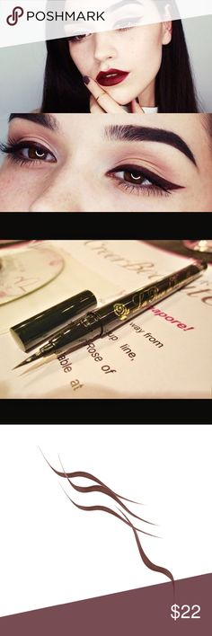 Brown Waterproof Eyeliner La Rose De Versailles waterproof liquid eyeliner from Japan. Never used it, brand new. La Rose De Versailles Makeup Eyeliner
