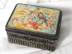 vintage dutch tin biscuit tin small tin by minoucbrocante on Etsy