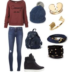 "Check out the Wool Beanie we sell on aspiga.com style in ""Fall♥"" by jerma-delacruz on Polyvore"