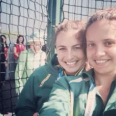 The Queen photobombed an Australian field hockey player's selfie at the Commonwealth Games attributed to FTW@ USA Today