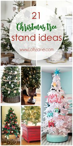 21 Christmas Tree Stand Ideas Lolly Jane Christmas Tree Base Diy Christmas Tree Christmas Tree Stand