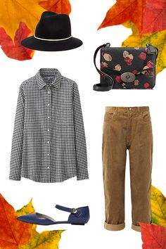 Get A (Turkey) Leg Up On Your Thanksgiving Day Outfit #refinery29  The Plan: Dinner With Your Friend's Family Maybe you didn't want to splurge on airfare, or you just felt like doing something different this year. Whatever the scenario, a checked button-up and corduroys couldn't be more appropriate for the occasion.