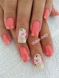 Nail art de rosas