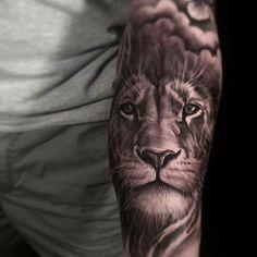 Bible Tattoos, New Tattoos, I Tattoo, Cool Tattoos, Lion Forearm Tattoos, Chest Piece, Animal Tattoos, Tattoo Designs Men, Big Cats
