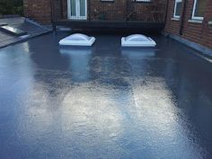 Finished installation: GRP flat roof with our #rooflight domes.