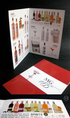 Catálogos de productos para destilerías MG.