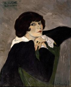Colette painted in Rome by Rene Carrere, 1918.