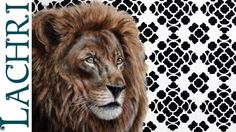 Speed painting - photorealistic Lion acrylic and oil - Time lapse demons...