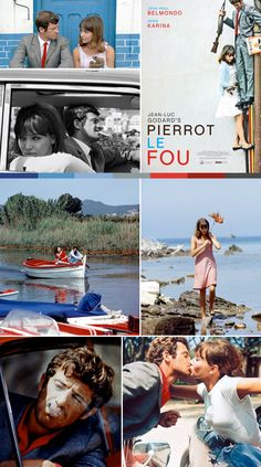 blue red and white - Pierrot Le Fou