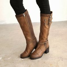 see more Long High Heel Knight Boots
